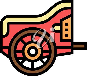 chariot ancient greece color icon vector. chariot ancient greece sign. isolated symbol illustration