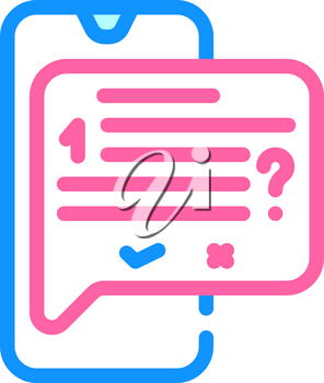 answer on question call center color icon vector. answer on question call center sign. isolated symbol illustration