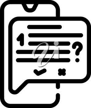 answer on question call center line icon vector. answer on question call center sign. isolated contour symbol black illustration