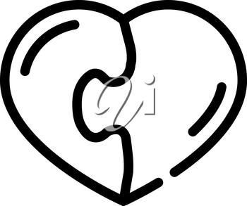 heart found soul mate line icon vector. heart found soul mate sign. isolated contour symbol black illustration