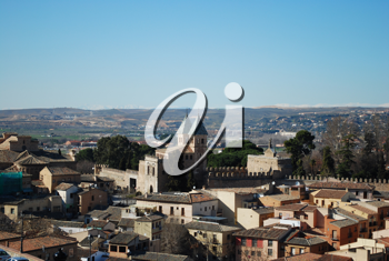 Royalty Free Photo of the Landscape of Toledo, Spain