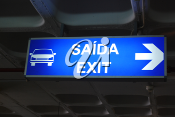 Royalty Free Photo of an Exit Sign