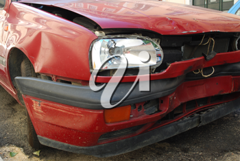 Royalty Free Photo of a Crashed Car