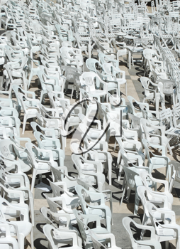 Royalty Free Photo of White Empty Seats