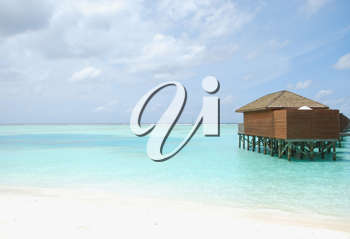 Royalty Free Photo of Villas in the Maldives Island