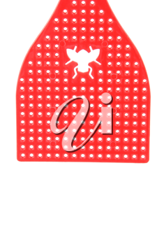 Royalty Free Photo of a Red Fly Swatter