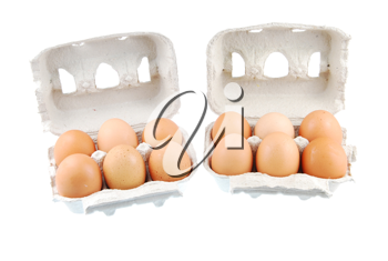 Royalty Free Photo of Cartons of Eggs