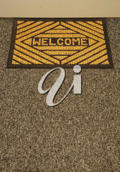 Royalty Free Photo of a Welcome Home Mat