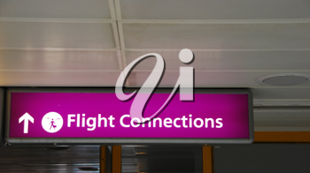 Royalty Free Photo of a Flight Connections Sign