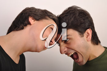 Royalty Free Photo of Two People Fighting