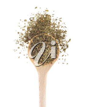 Royalty Free Photo of a Spoonful of Parsley