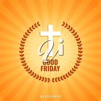 good friday background with cross