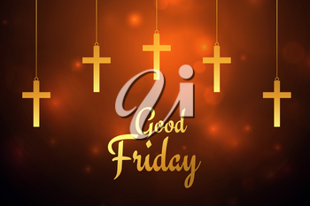 good friday hanging crosses background