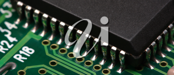 Royalty Free Photo of a Closeup of a Circuit Board