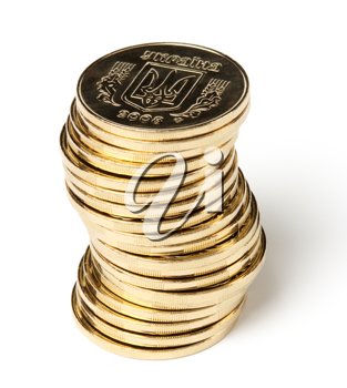 Royalty Free Photo of a Stack of Gold Coins