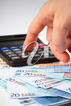 Royalty Free Photo of a Calculator and Euros