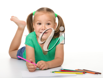 Royalty Free Photo of a Girl Colouring