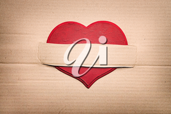 Valentines Day heart on vintage paper background as Valentines Day  symbol