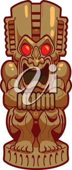 Royalty Free Clipart Image of a Tiki Statue