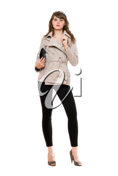 Royalty Free Photo of a Woman in a Jacket