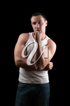 Royalty Free Photo of a Guy In a T-Shirt