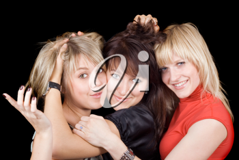Royalty Free Photo of Three Women Being Silly