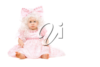 Royalty Free Photo of a Little Baby Girl in Pink