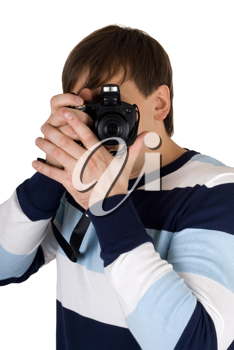 Royalty Free Photo of a Man Taking Pictures