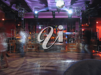 Royalty Free Photo of the Interior of a Nightclub