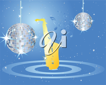 Royalty Free Clipart Image of a Disco Themed Background