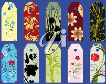 Royalty Free Clipart Image of Floral Bookmarks