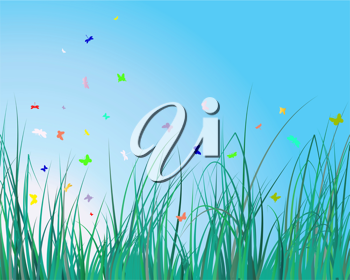 Royalty Free Clipart Image of a Grassy Background