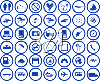 Royalty Free Clipart Image of Travel Web Icons