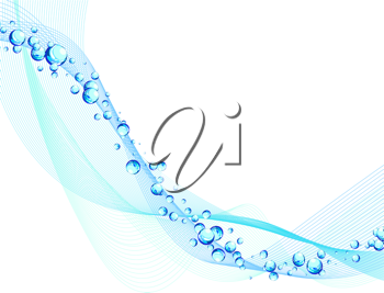 Abstract water vector background with bubbles of air