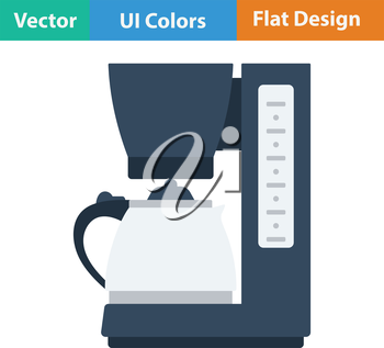 Kitchen coffee machine icon. Flat design. Vector illustration.icon. Flat design. Vector illustration.