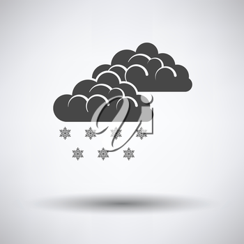 Snow icon on gray background with round shadow. Vector illustration.