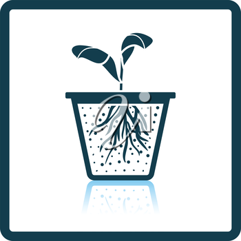 Seedling icon. Shadow reflection design. Vector illustration.