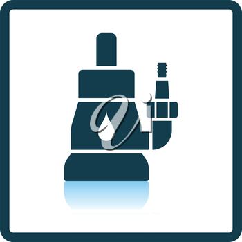 Submersible water pump icon. Shadow reflection design. Vector illustration.