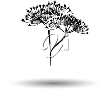 Dill  icon. White background with shadow design. Vector illustration.
