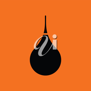 Enema icon. Orange background with black. Vector illustration.