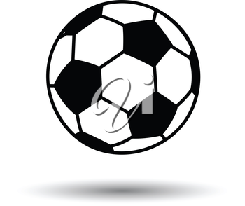 Soccer ball icon. White background with shadow design. Vector illustration.