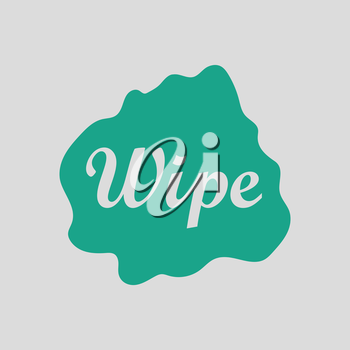 Wipe cloth icon. Gray background with green. Vector illustration.