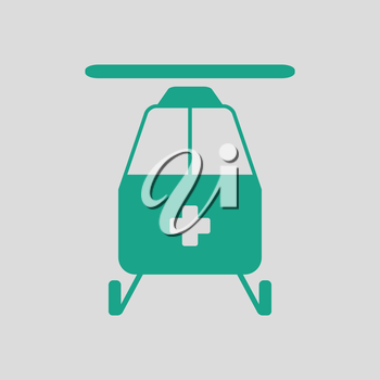 Medevac icon. Gray background with green. Vector illustration.