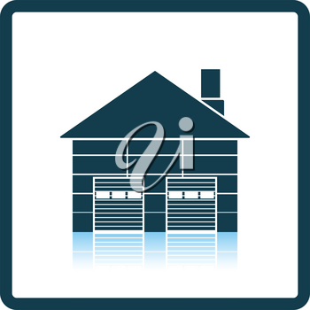 Warehouse logistic concept icon. Shadow reflection design. Vector illustration.