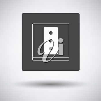 Italy electrical socket icon on gray background, round shadow. Vector illustration.