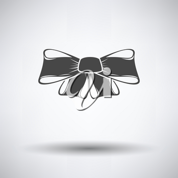 Party bow icon on gray background, round shadow. Vector illustration.