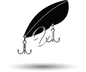 Icon of Fishing spoon. White background with shadow design. Vector illustration.