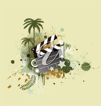 Royalty Free Clipart Image of an Abstract Clapperboard Background