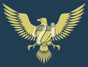 Royalty Free Clipart Image of an Eagle