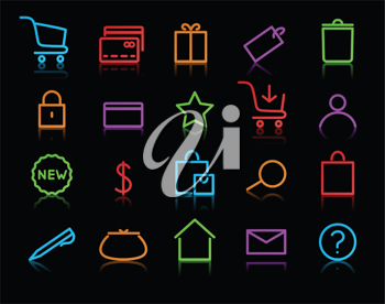 Royalty Free Clipart Image of Computer Web Icons